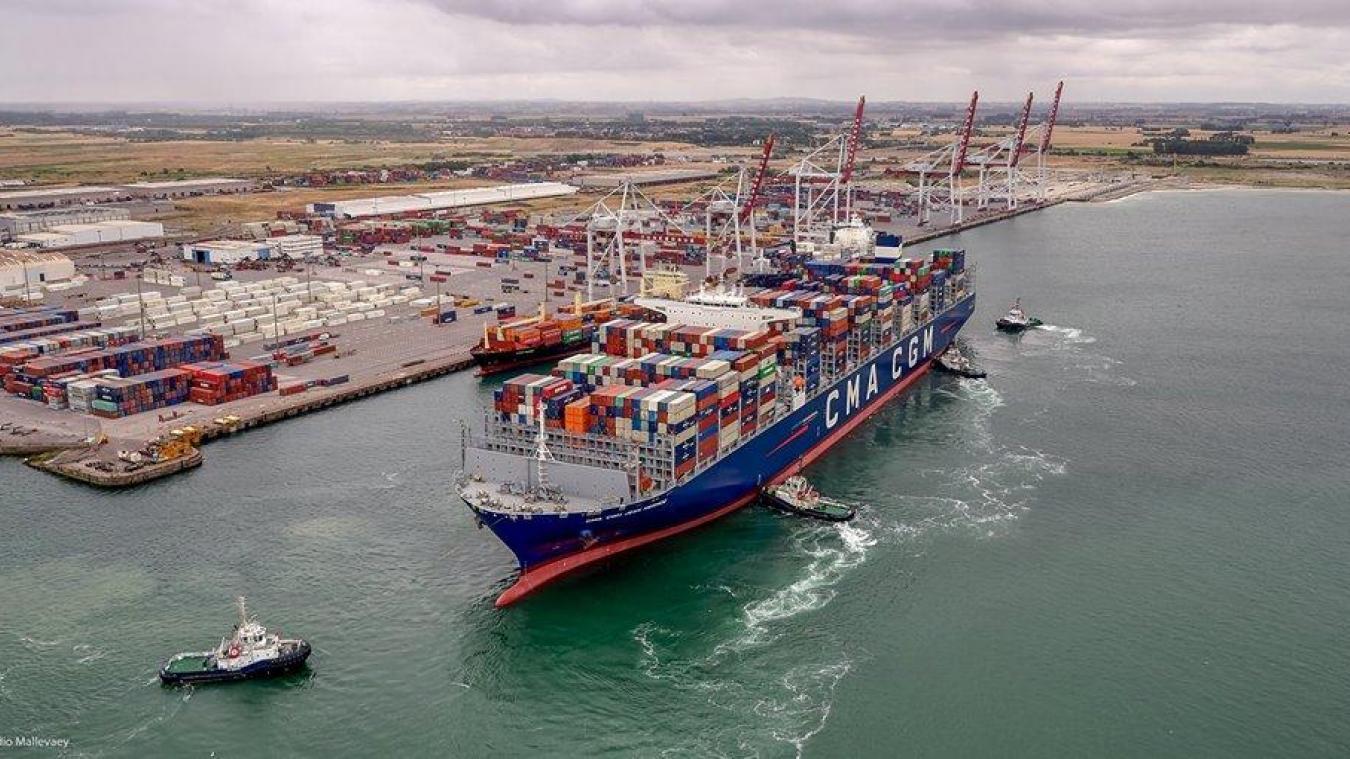 Le Grand port maritime de Dunkerque a enregistré plusieurs records d'activités cette année. ©Studio Mallevaey