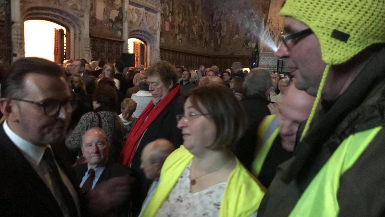 Arras : les Gilets jaunes s'invitent aux vœux du maire