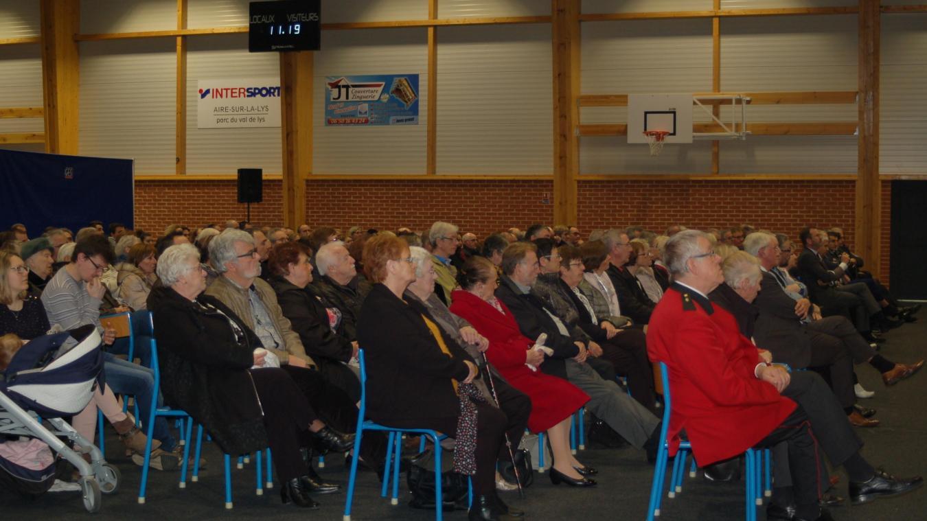 Salle comble pour la cérémonie des vœux wardrecquoise organisée en ce premier dimanche du mois de janvier.