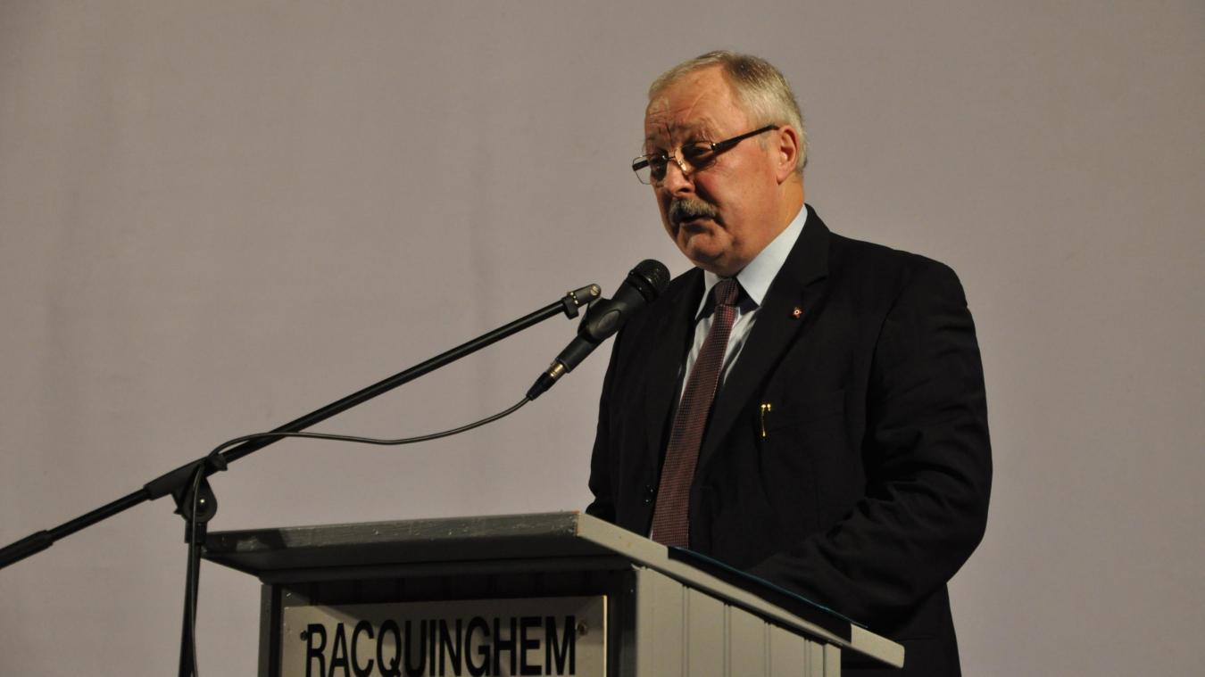 Bernard Idzik a présenté ses vœux aux Racquinghémois.