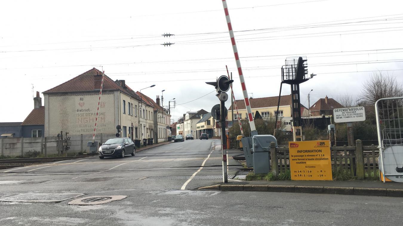 Isbergues : le passage à niveau de Molinghem fermé une semaine