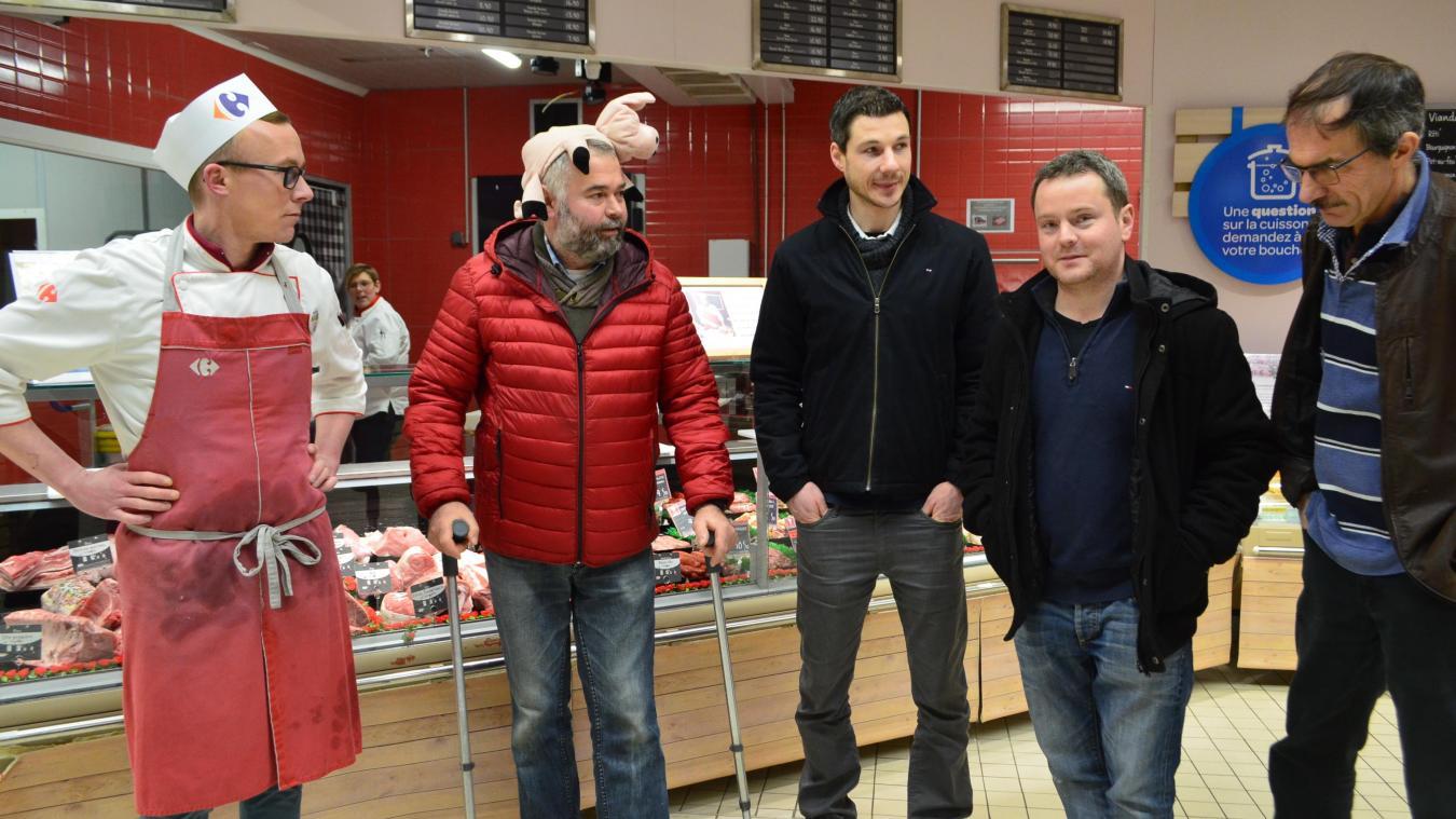 Vendredi 11 janvier, ils étaient quatre éleveurs du Nord à avoir fait le tour des supermarchés hazebrouckois.
