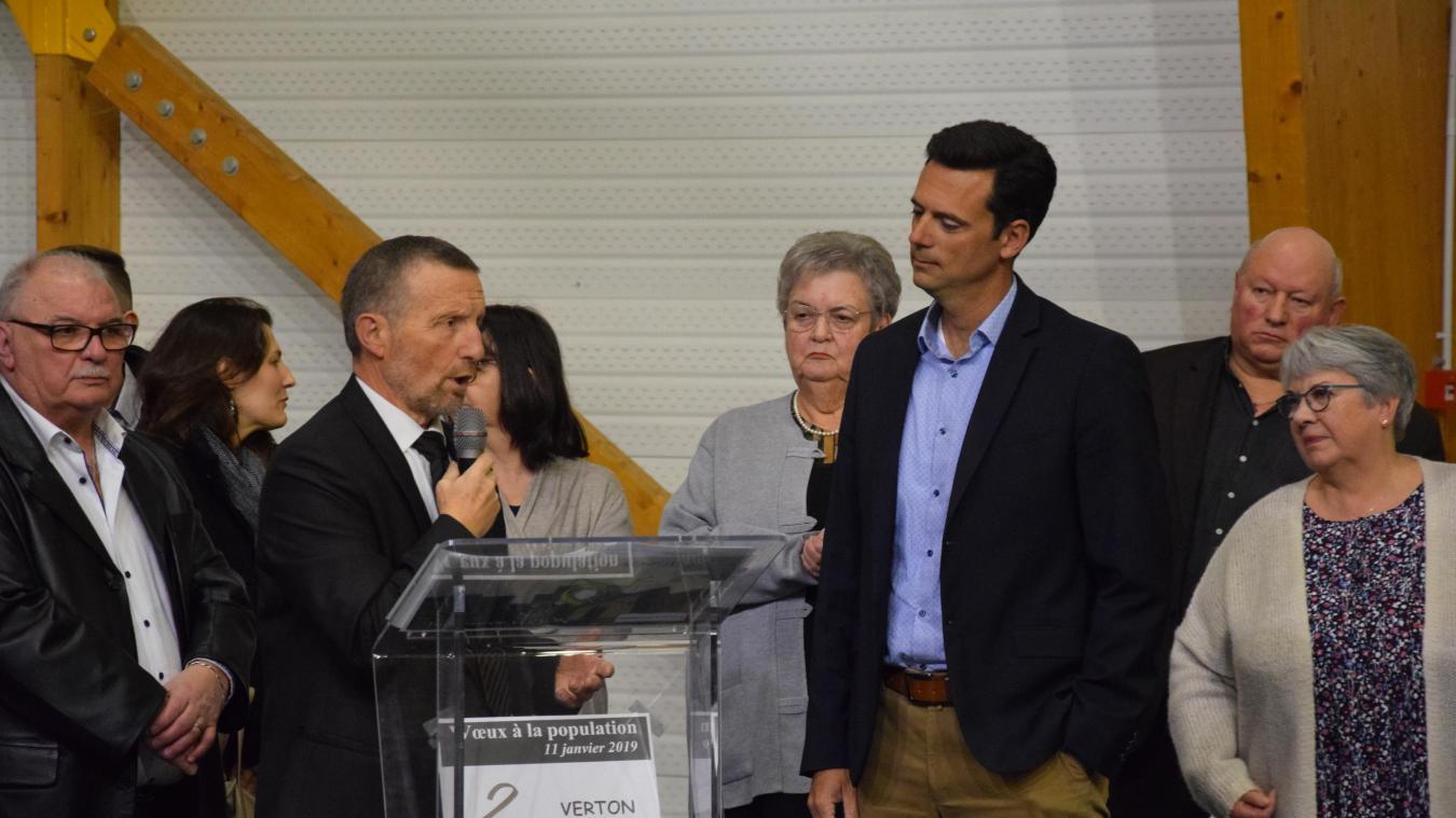 Le Docteur Cédric Guérin, porteur du projet Tropicalia, invité à la tribune pour évoquer la serre tropicale, qui sera la plus grande du monde.