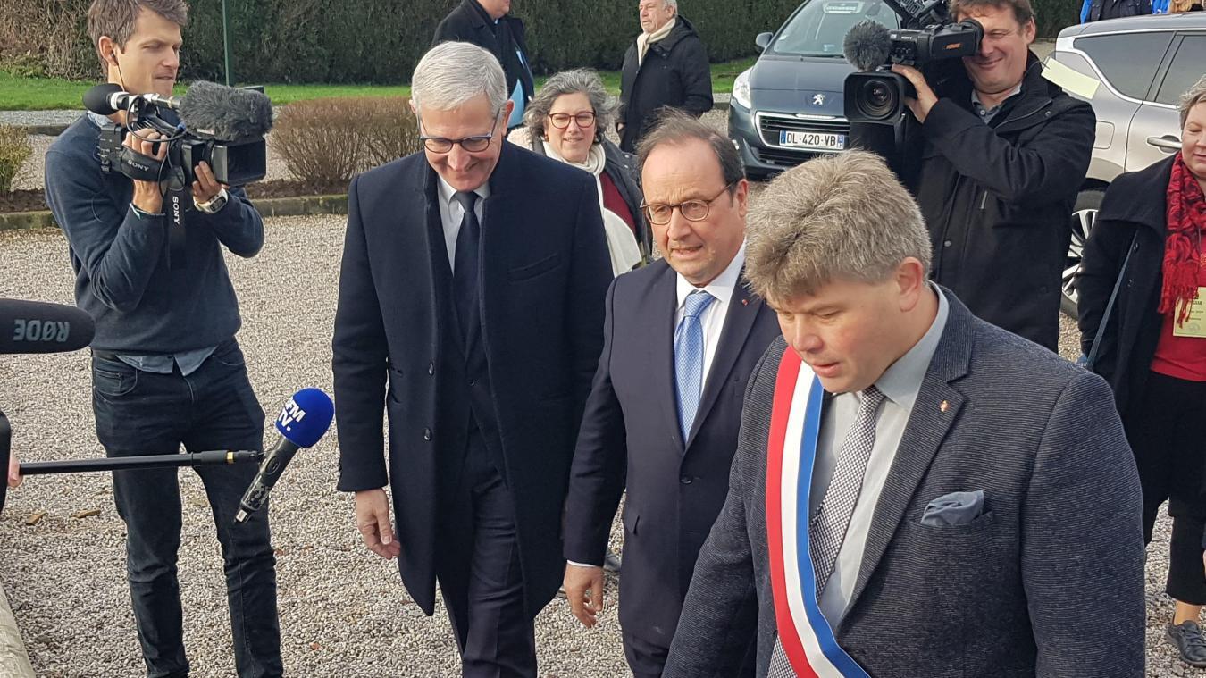 Lespesses: François Hollande aux vœux du maire (Deux Vidéos et galerie photos)