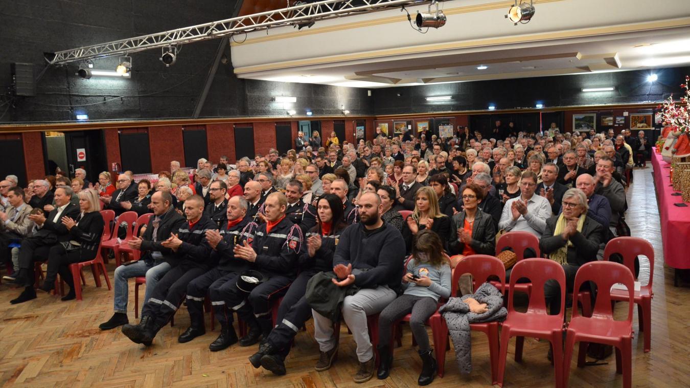La salle du Palace était le cadre de la cérémonie des vœux du maire Pascal Barois le dimanche 13 janvier.