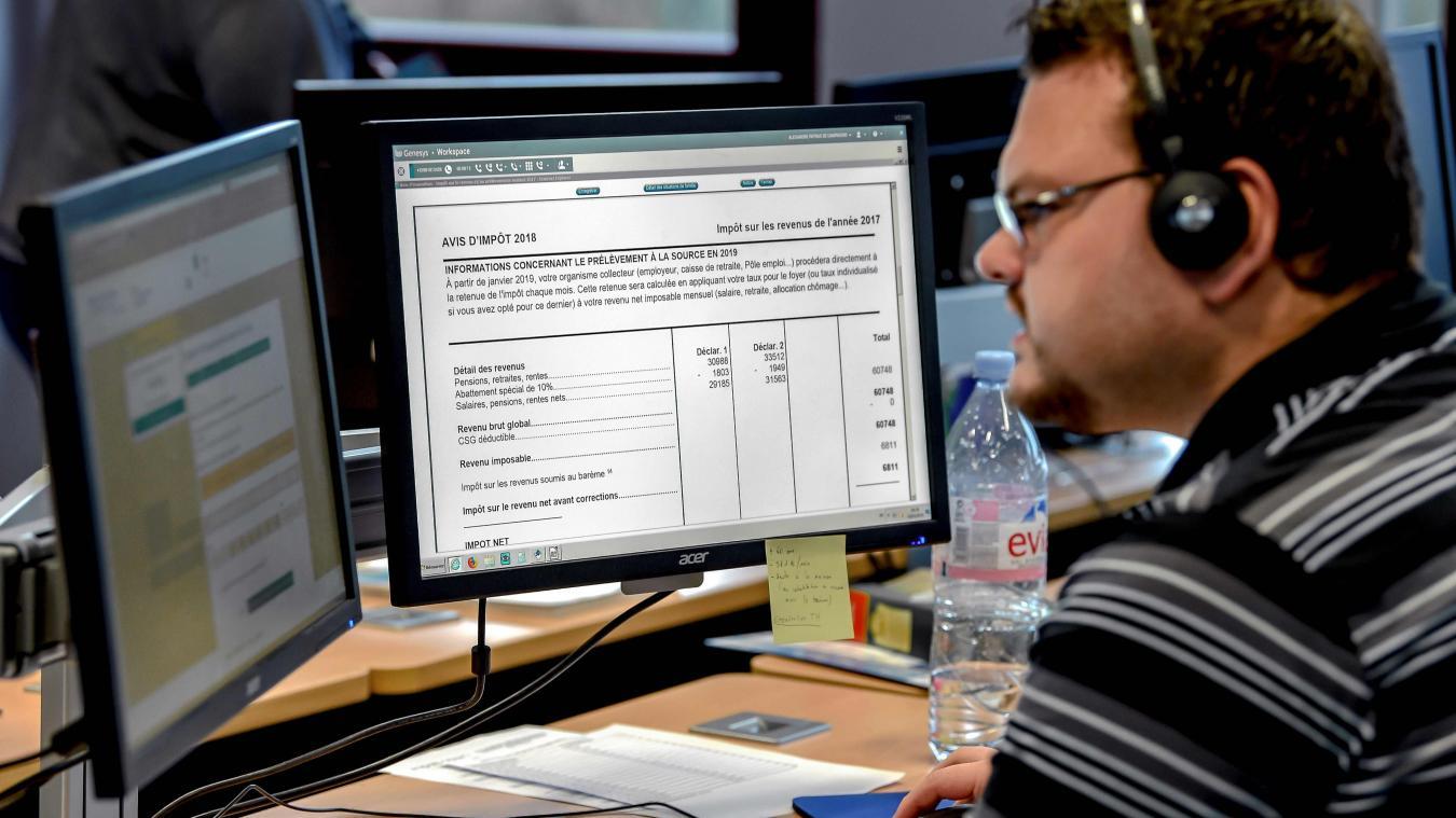 Avec la réforme du prélèvement de l'impôt sur le revenu, une plateforme d'appel a été mise en place.