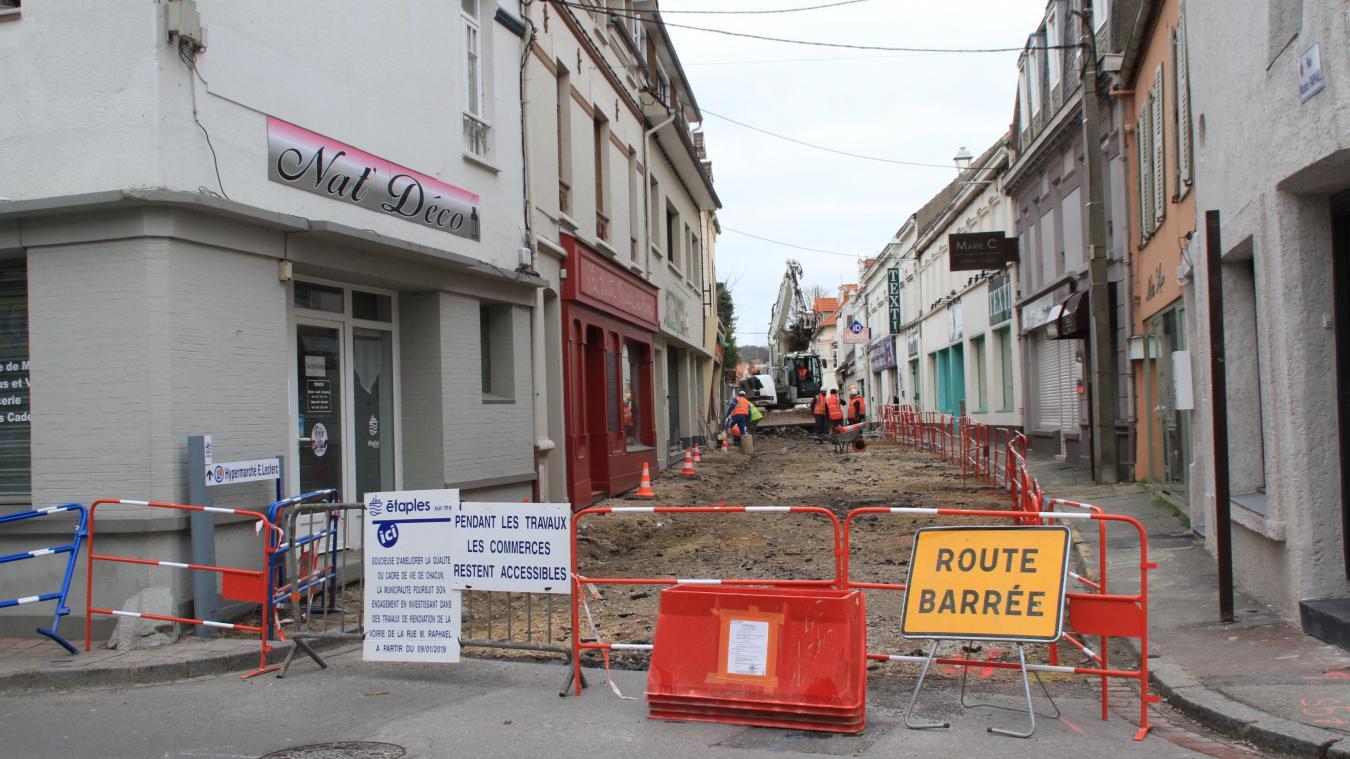 Débuts des travaux rue Maurice Raphaël à Etaples