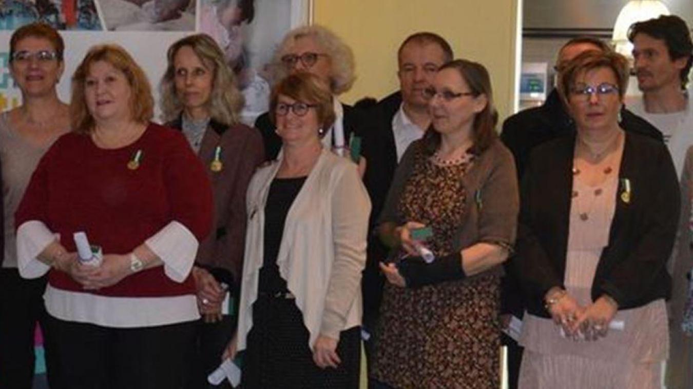 Christine Agnello, Sabine Darras et Catherine Brasme ont été médaillées lors de la cérémonie des vœux de l'hôpital.