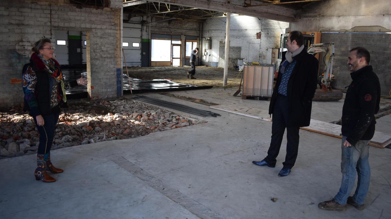 Fin janvier, les lieux sont encore en chantier. Mais les travaux devraient être terminés pour fin mars.