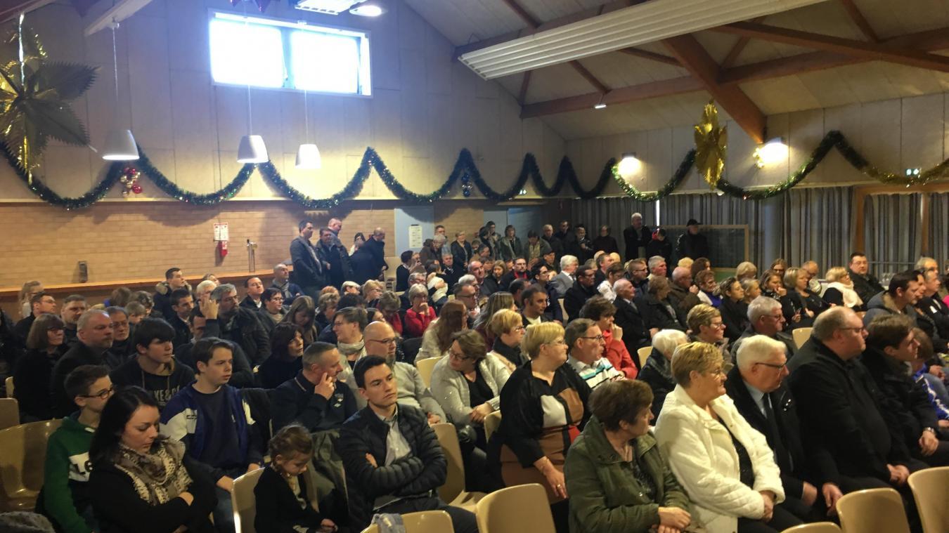 La salle des fêtes était une nouvelle fois comble. Le maire ne cache pas sa volonté de l'agrandir lors du prochain mandat.