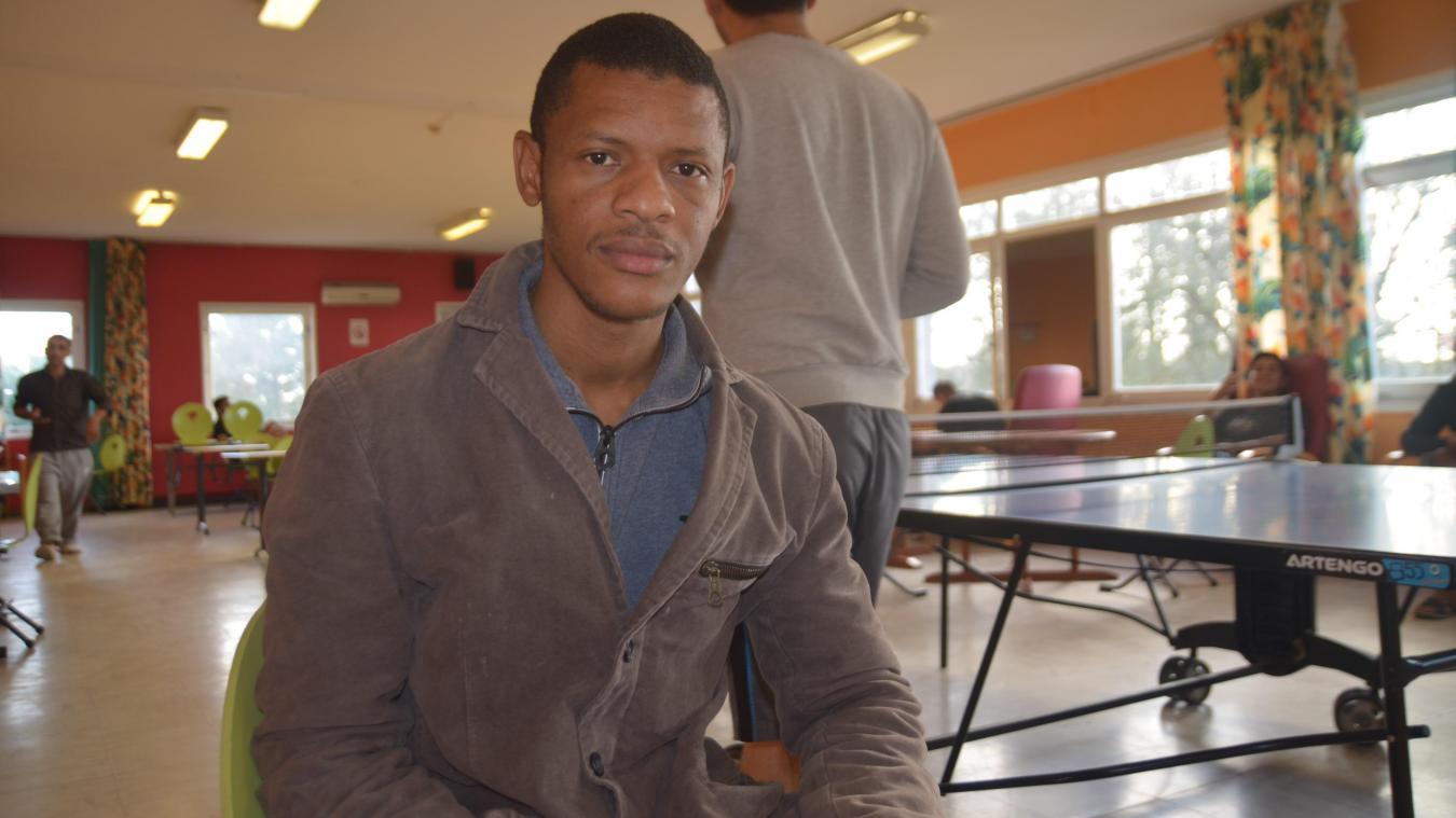 Musa est arrivé du Sierra Léone vendredi. Il est l'un des rares anglophones du centre et seul ressortissant de ce pays d'Afrique occidentale.