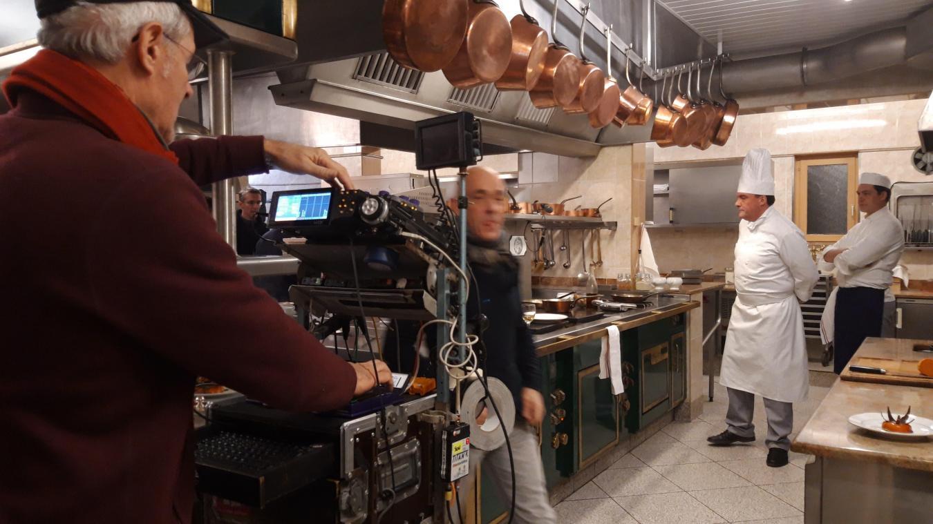 Les caméras de tournage ont investi la cuisine du Petit Bruxelles ce jeudi 24 janvier.