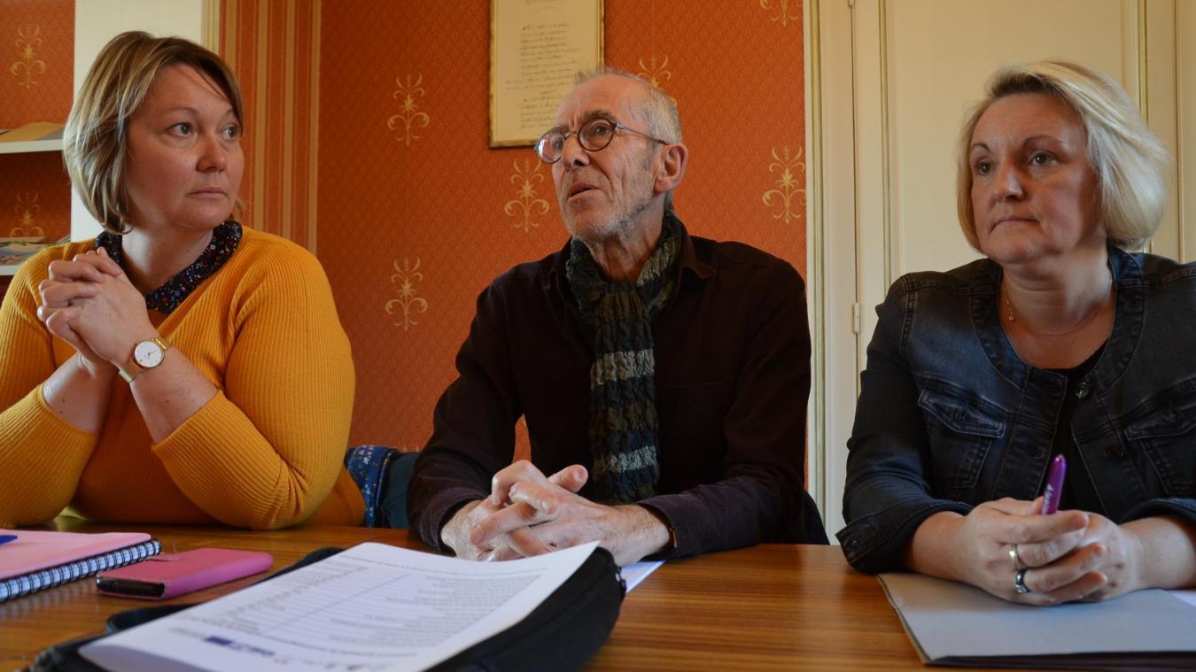 Jean Fouque, président du Plie, entouré d'Audrey Lempereur, directrice, Florence Wozny, vice-présidente.