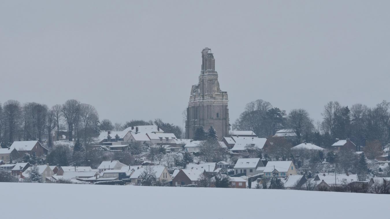 Arrageois : la neige au réveil, en grande quantité