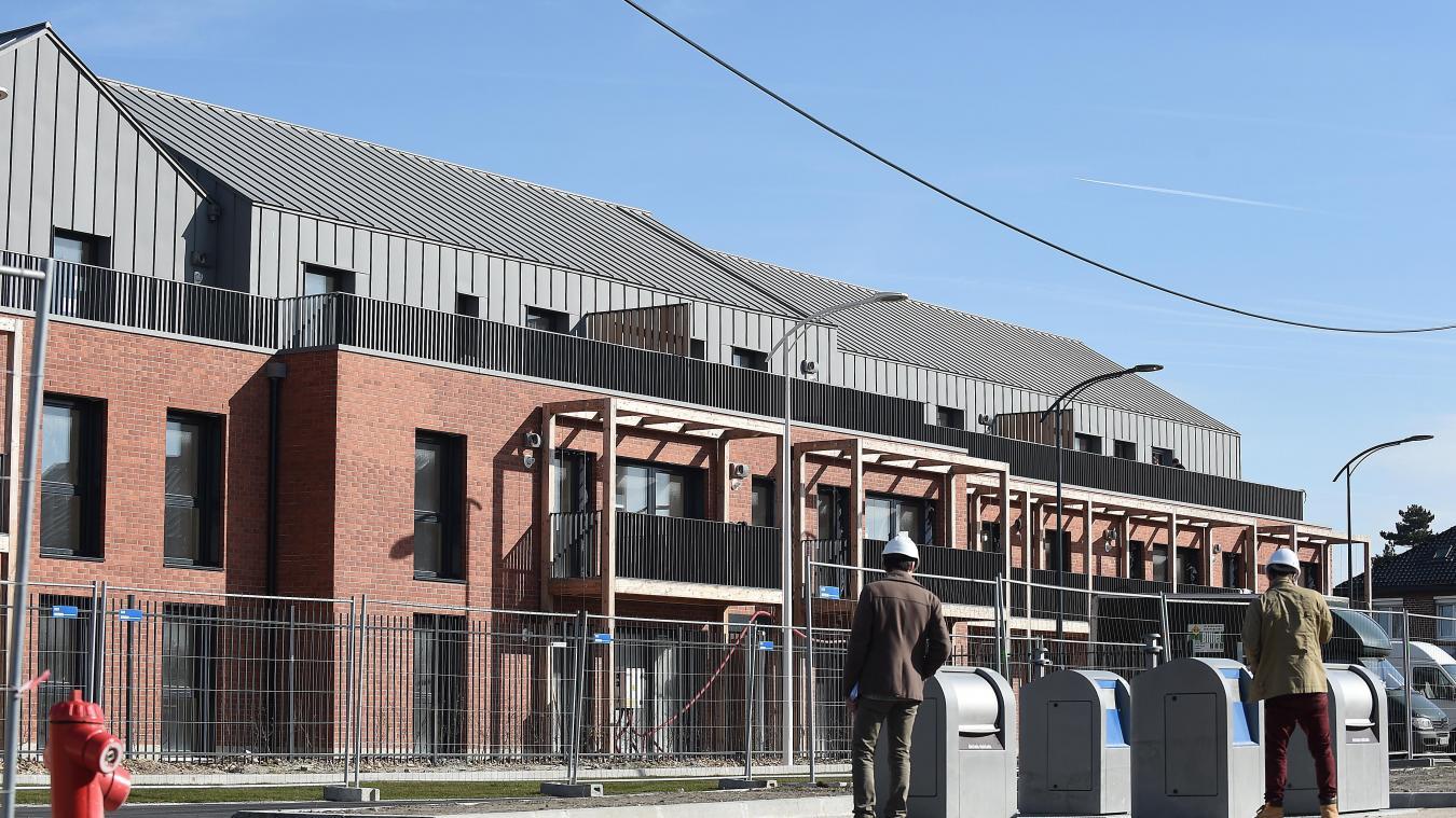 La première phase du quartier au moment des travaux. Une image qui va être reproduite dans un an.