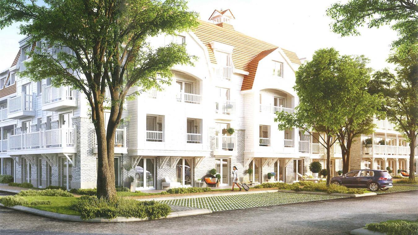 À terme, c'est un ensemble de sept résidences de tourisme qui doivent sortir de terre à Sainte-Cécile.