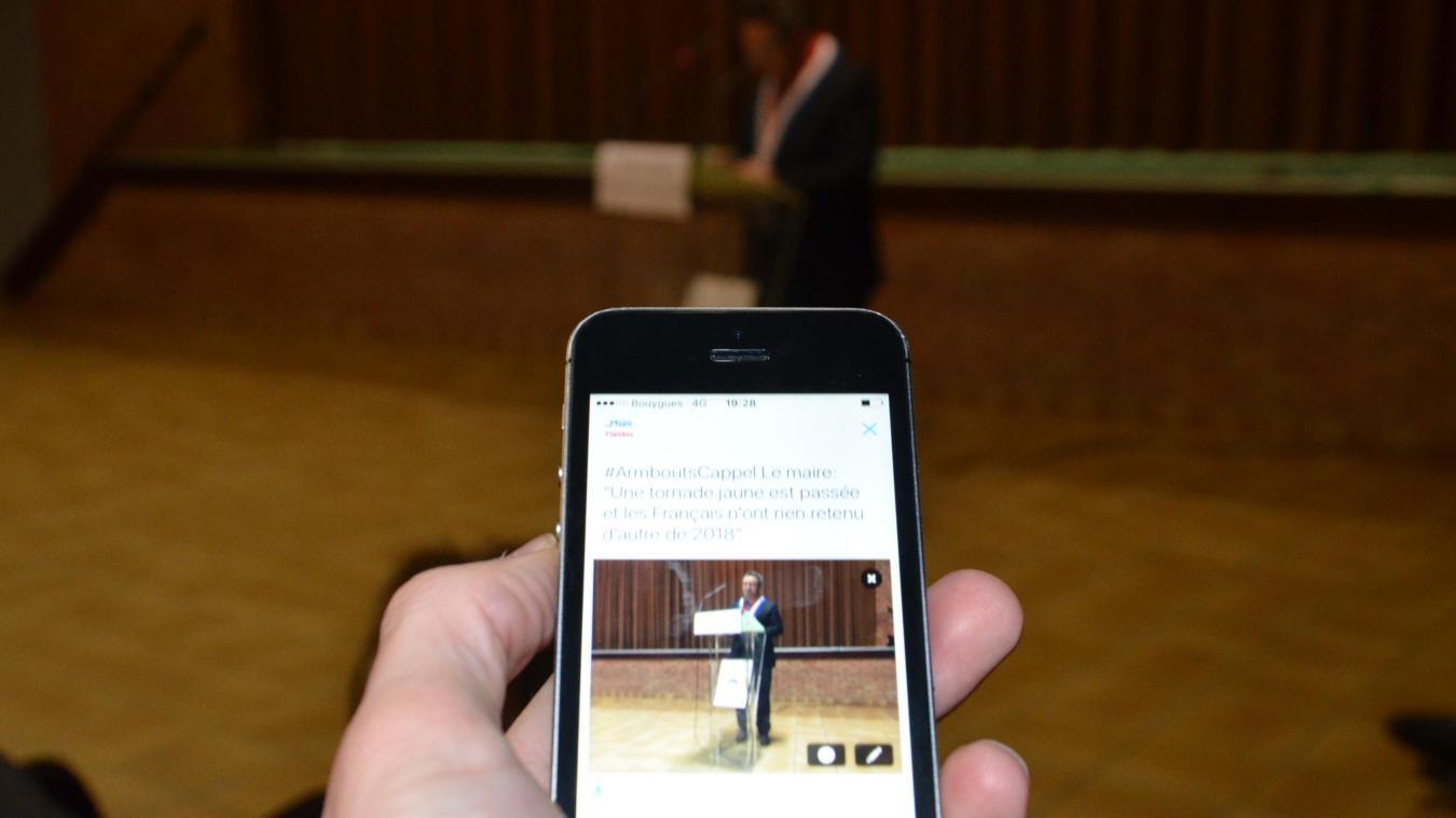 Le maire d'#ArmboutsCappel s'est exprimé de 19 h 22 à 20 h 10.
