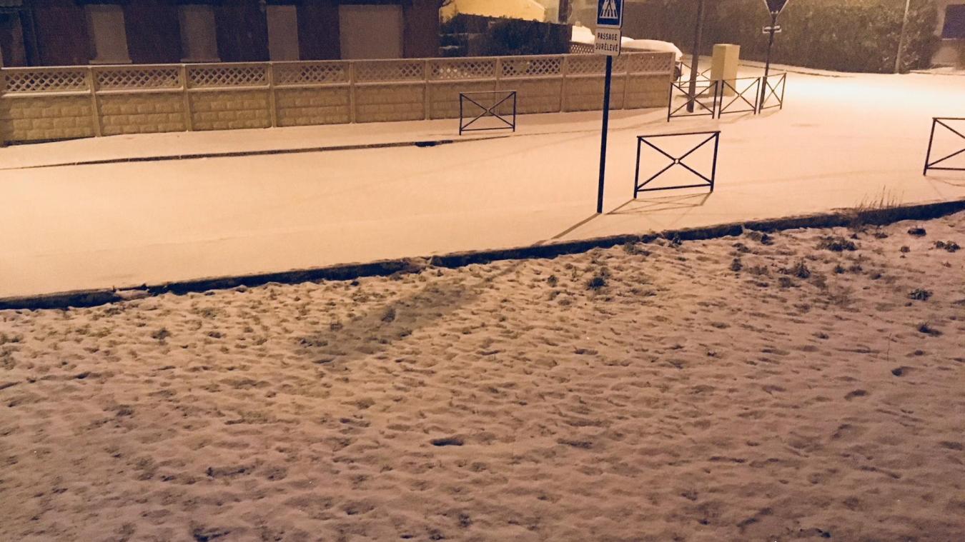 La neige a bien recouvert Aire-sur-la-Lys, la nuit de jeudi à vendredi