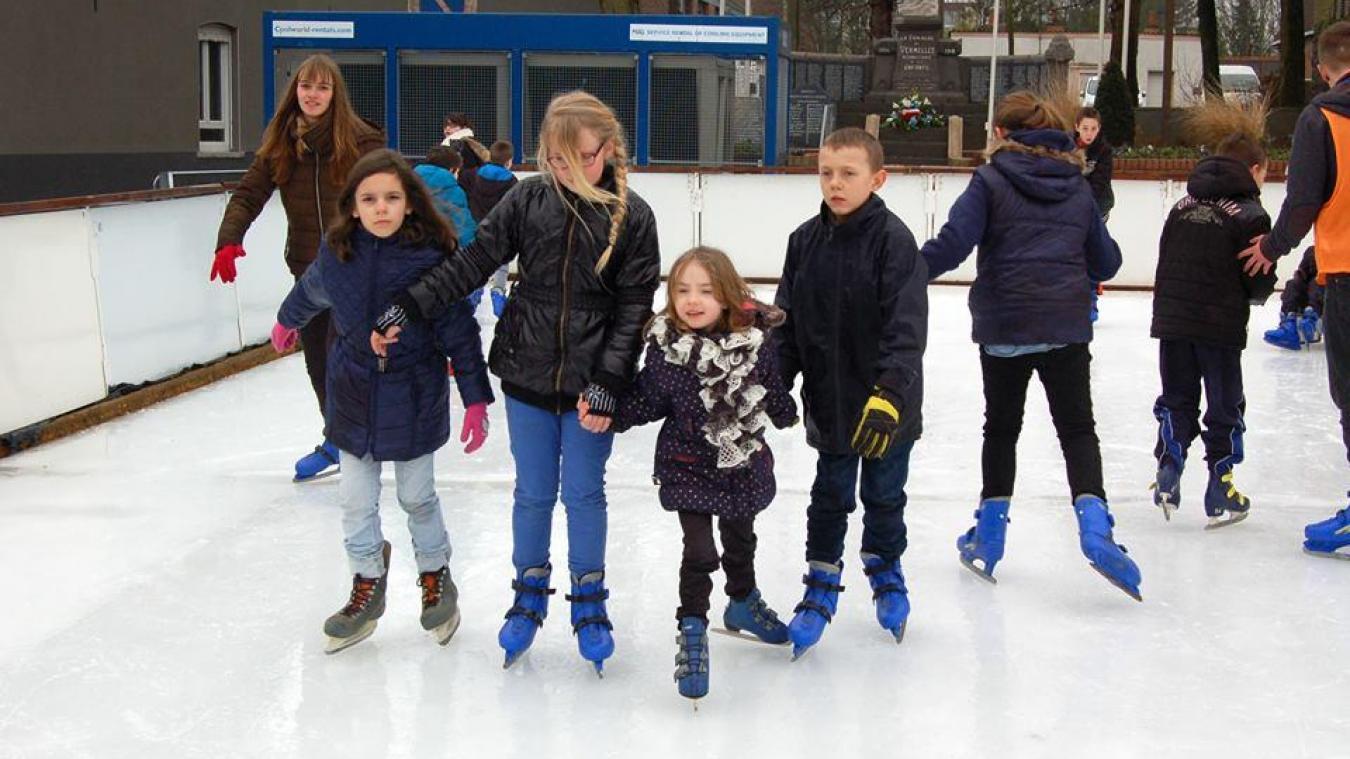 La patinoire sera installée tout le long des vacances scolaires de février. (Photo : Ville de Vermelles)