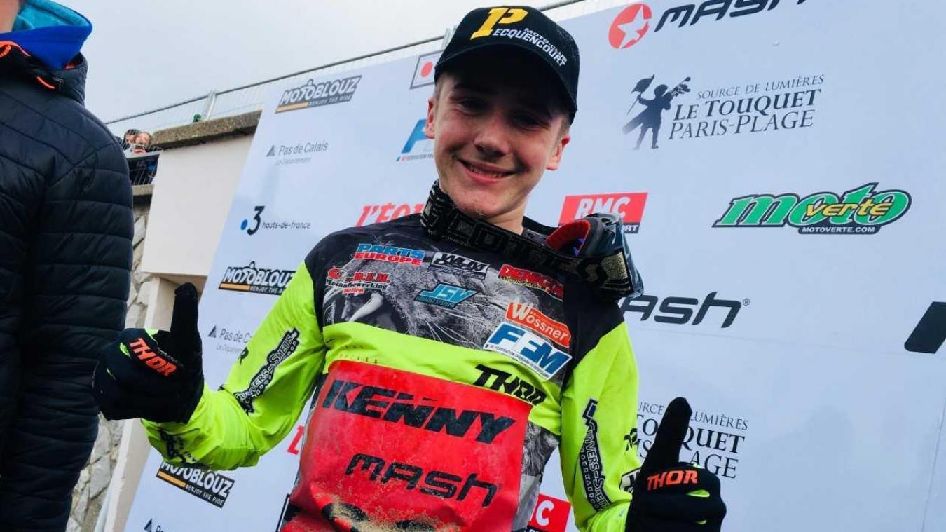 Le jeune Mathéo Miot (dossard 90 et licencié au Moto Club de Pecquencourt) a été le plus rapide et remporte l'Enduropale Juniors 2019