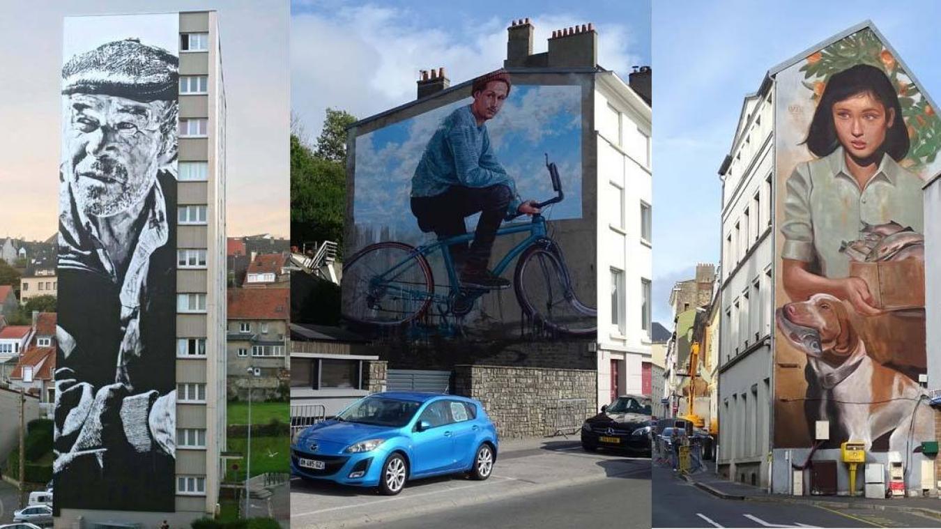 La fresque de l'Allemand Hendrik Beikirch alias ECB (à gauche) est largement en tête du vote des internautes.