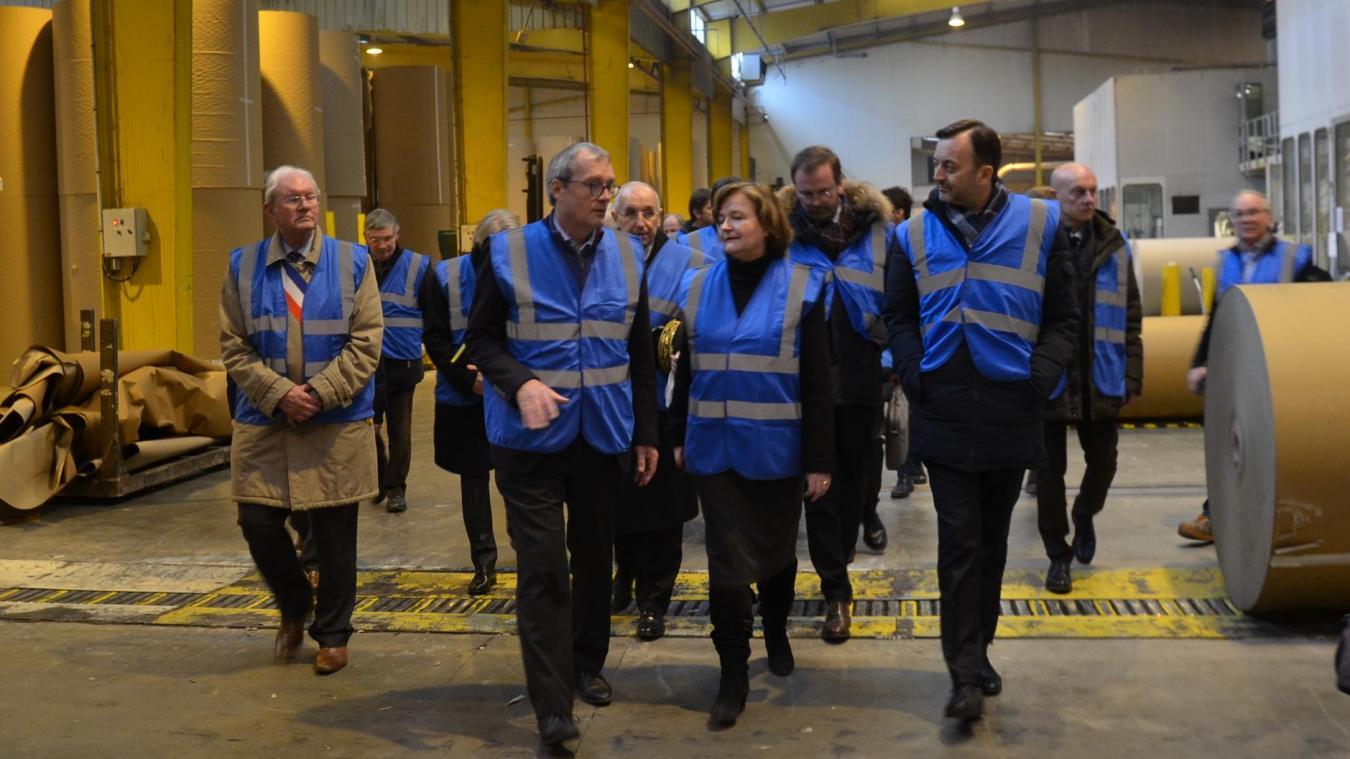 Nathalie Loiseau, Ministre chargée des affaires européennes, a visité ce lundi 4 février les Cartonneries de Gondardennes, avant de lancer le Grand débat national en Pays de Saint-Omer.
