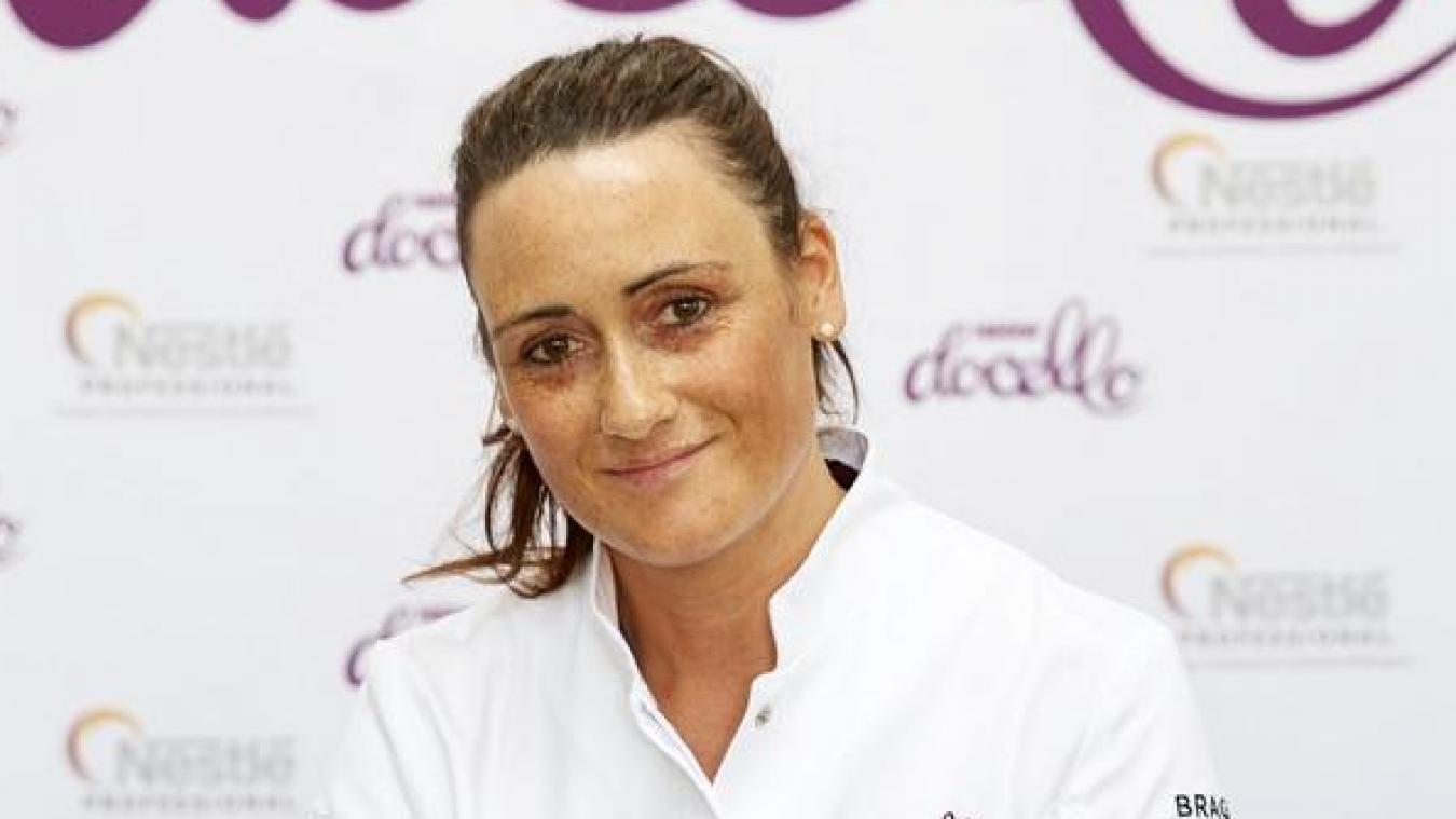 Ingrid Gallet s'est distinguée lors d'un concours culinaire grâce à une pomme en trompe l'œil.