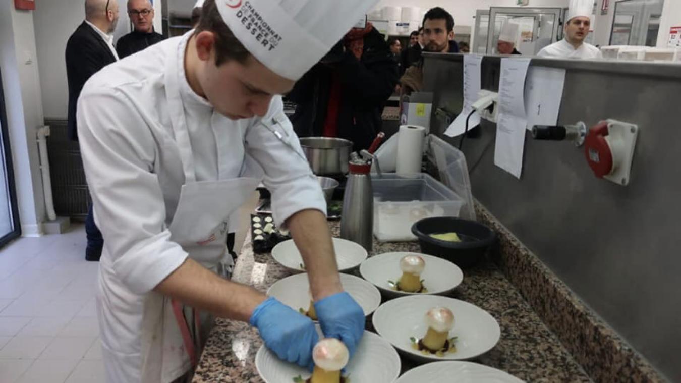 Pour s'imposer, le jeune Boulonnais a dû préparer dix assiettes de son champignon sucré.