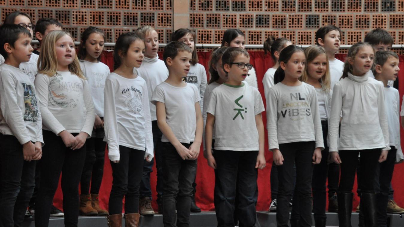 Les jeunes ont abordé le thème de la citoyenneté par le chant.