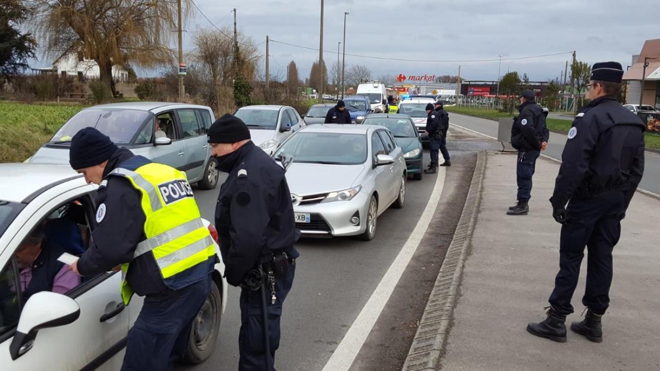 Pas moins de 80 véhicules ont été contrôlés en moins de deux heures.