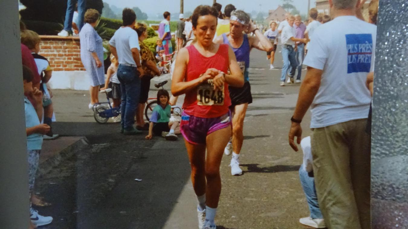 Thérèse a remporté les 50 km de Bailleul dans les années 1980.