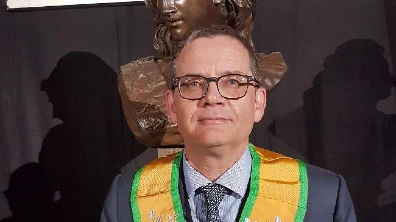 Jean-Philippe Hubsch, grand maître du Grand Orient de France, prononcera le discours de clôture de la réunion publique. (DR)