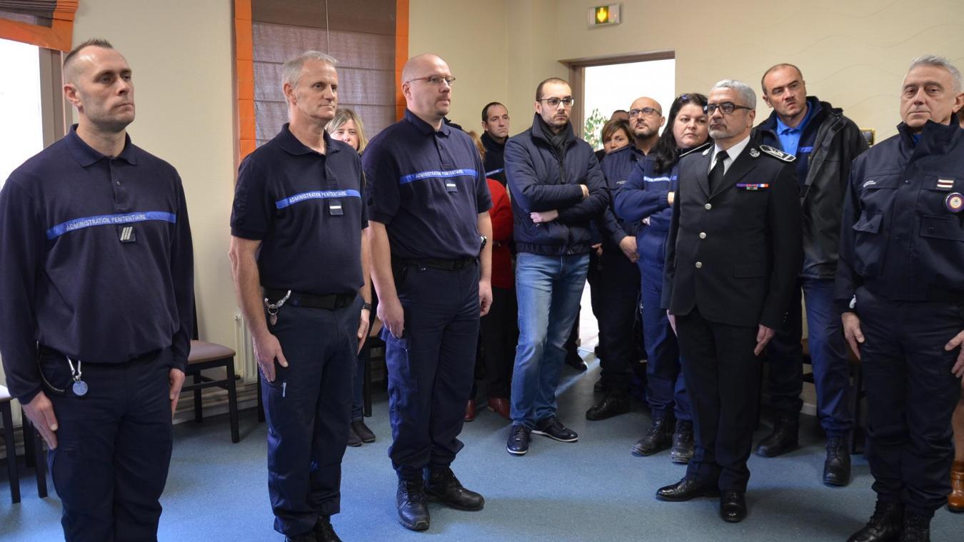 Nicolas Pavie, Joaquim Gallo et Patrick Mallet ont sauvé un détenu des flammes.