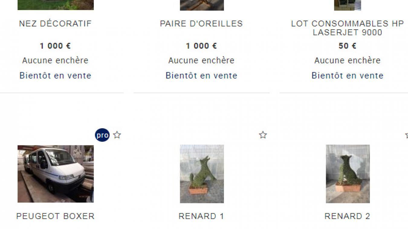 Vente aux enchères d'objets appartenant à la Ville de Boulogne, du 14 au 22 février.