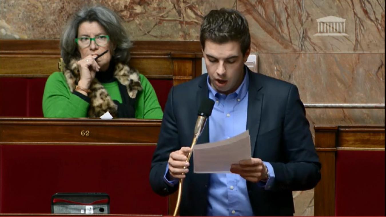 Ludovic Pajot intervenait à l'Assemblée nationale dans la nuit du 12 au 13 février (Capture d'écran-Site Assemblée nationale).