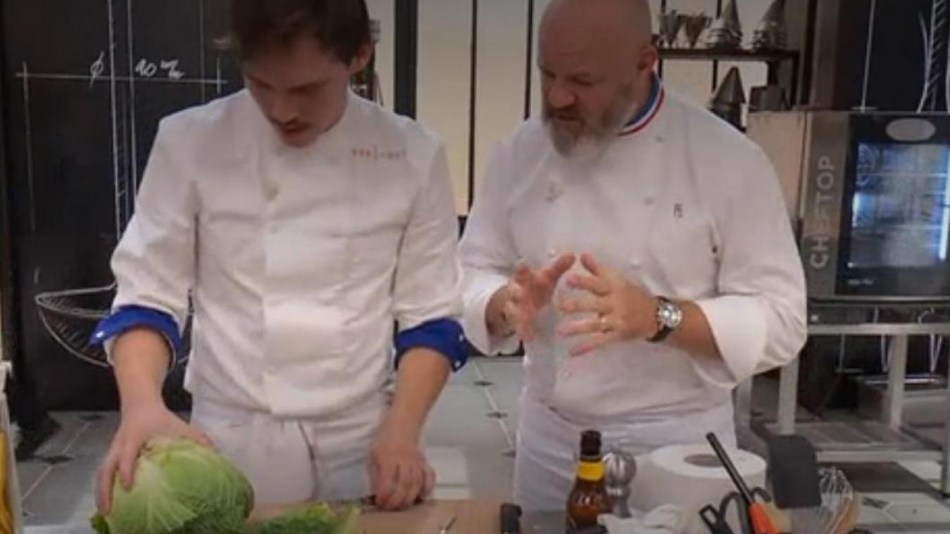 Damien Laforce a mis ses Flandres en avant lors de la seconde émission de la saison 10 de Top chef. ©Top chef/M6