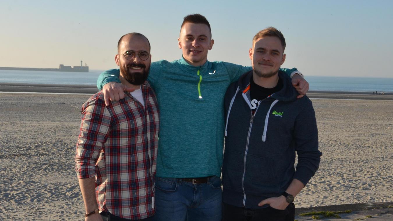 Kévin Gillon, Rudy Tarlet et Antoine Bourgois, trois membres de l'équipe de la salle CrossFit Portus Itius qui ouvrira en avril à Saint-Martin-Boulogne.