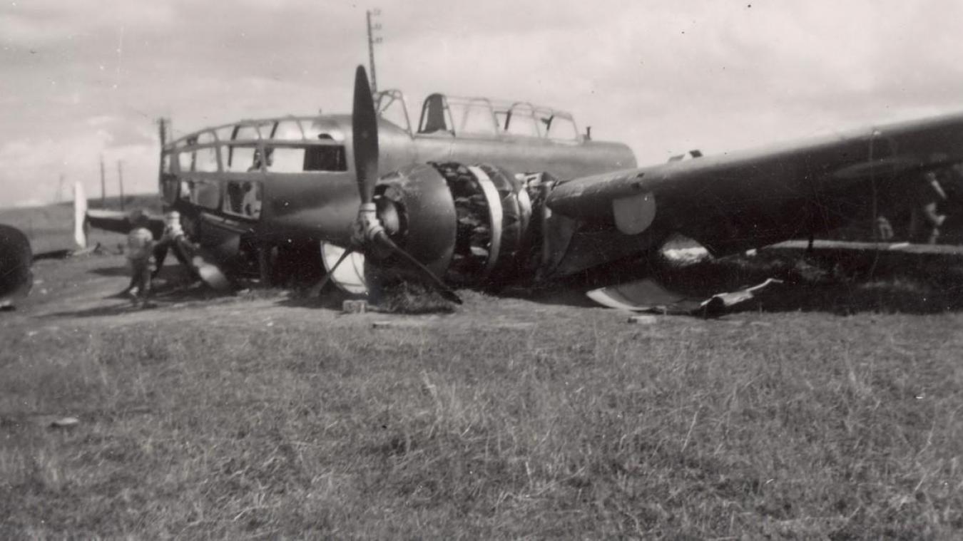 Un des avions qui s'est abattu sur le territoire d'Ecques.