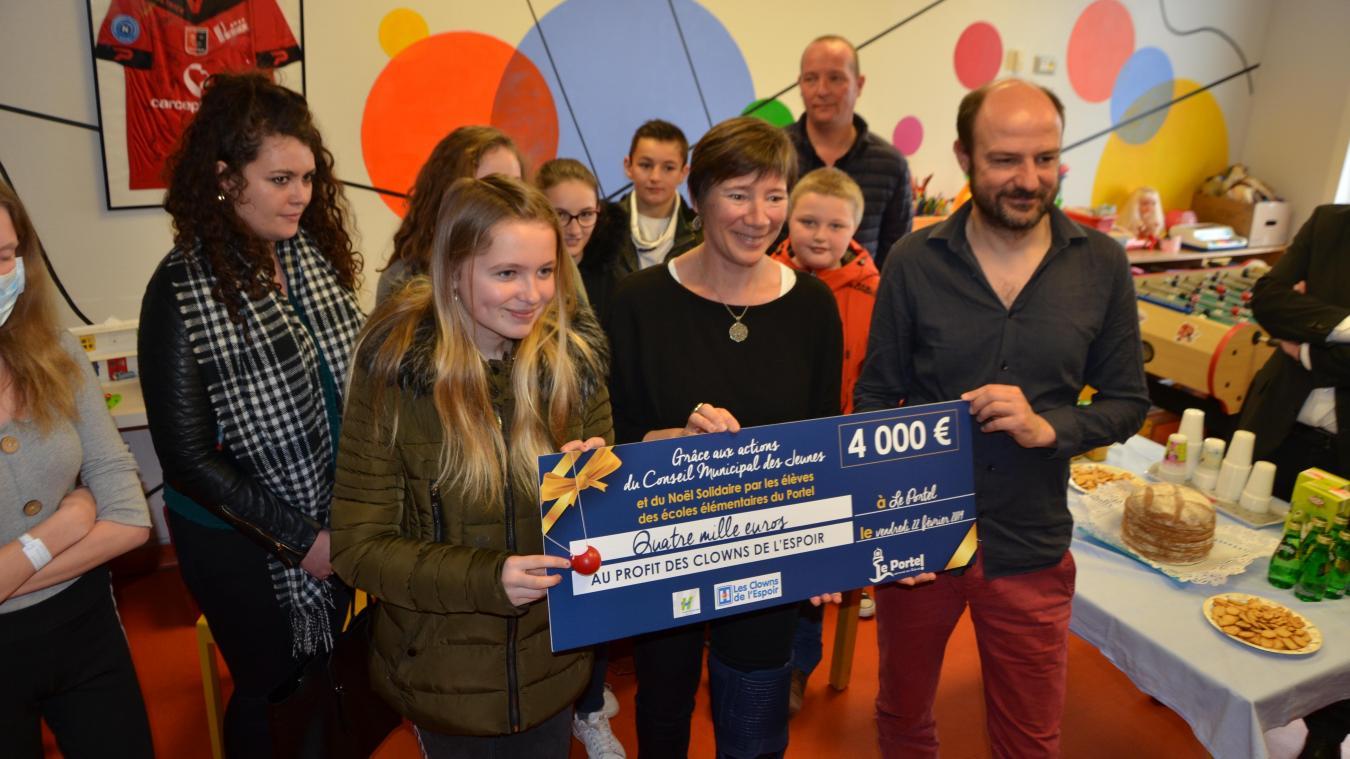 Quatre mille euros, une somme qui n'avait pas encore été atteinte par les différents conseils municipaux jeunes du Portel depuis 2014.