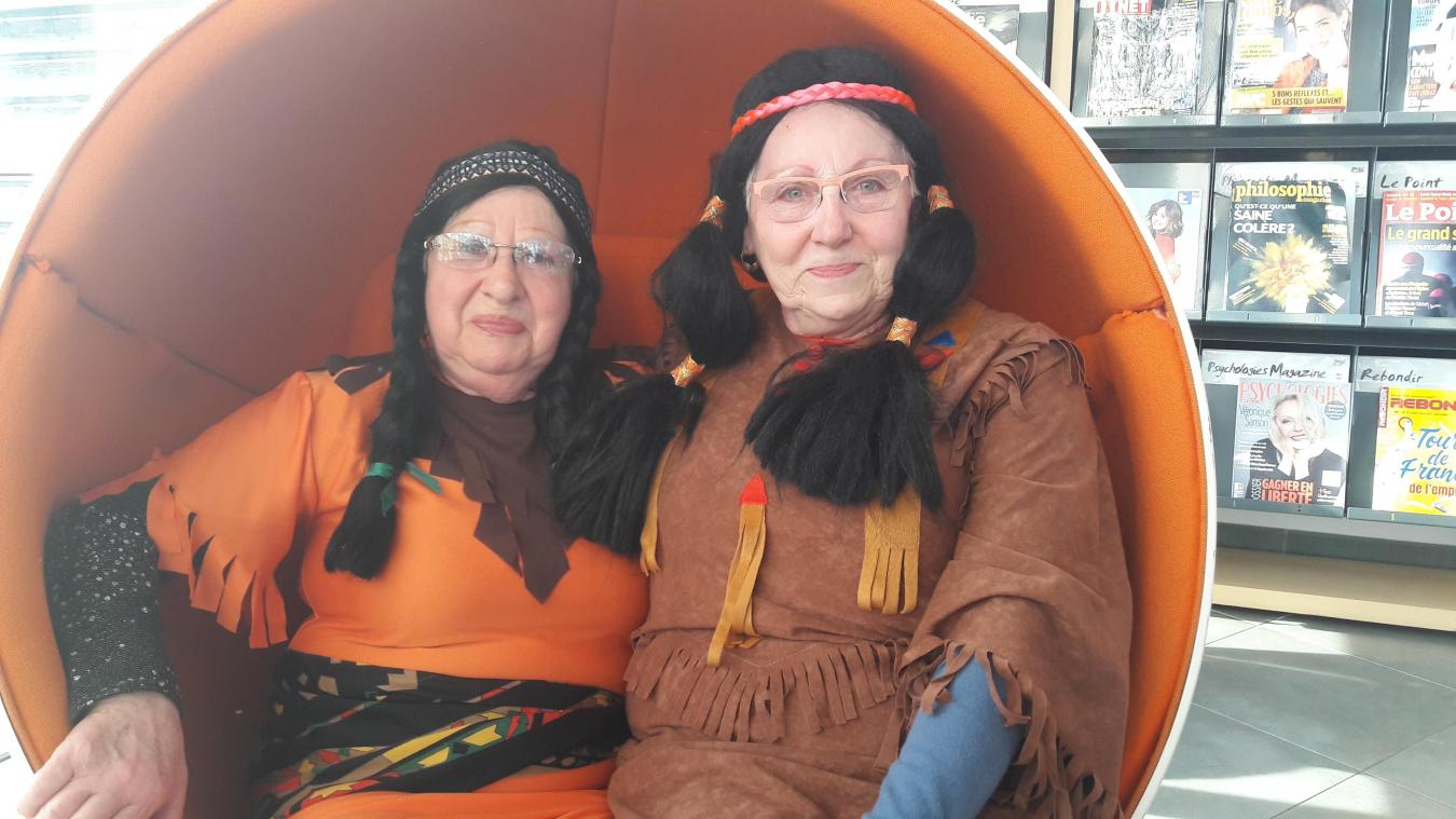 Jacqueline et Marie-Madeleine, fidèles du carnaval du Portel.