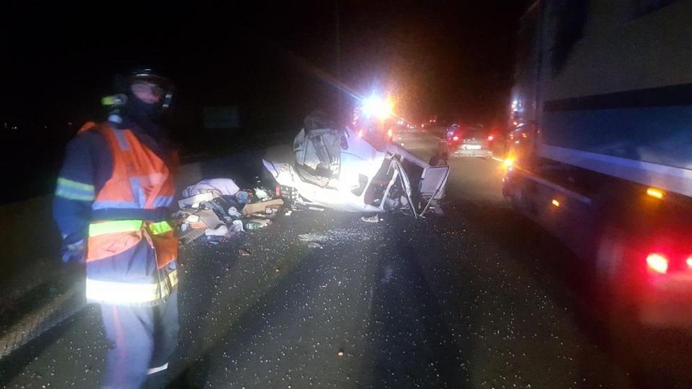 Les images de l'accident sont impressionnantes.
