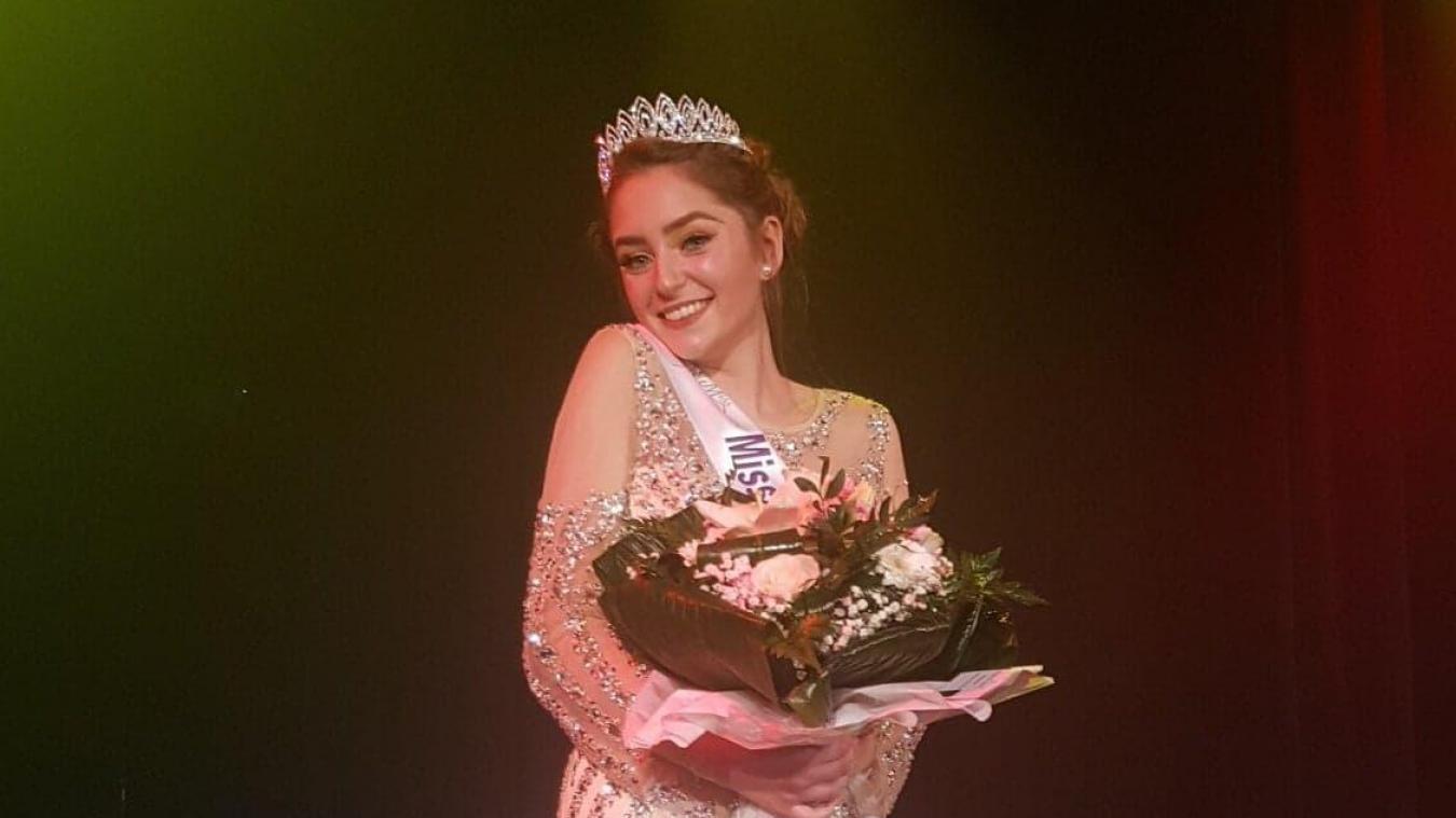 Clara Jolie a remporté le titre des élections primaires de Miss Élégance bassin minier Pas-de-Calais.