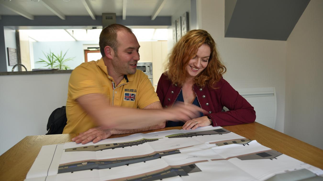 François et Virginie Depoers ont déjà tous les plans des deux prochains bâtiments.