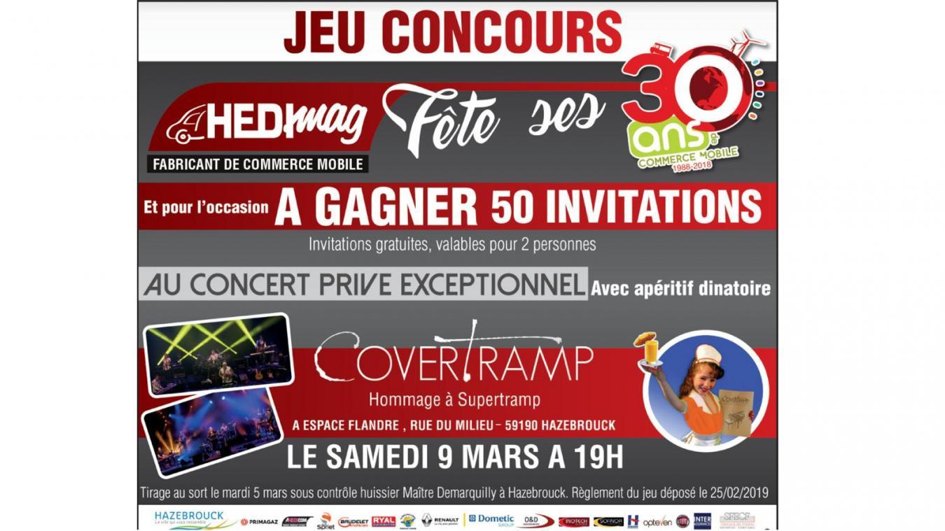 Gagnez Vos Invitations Pour Le Concert Prive De CoverTramp Du 9 Mars