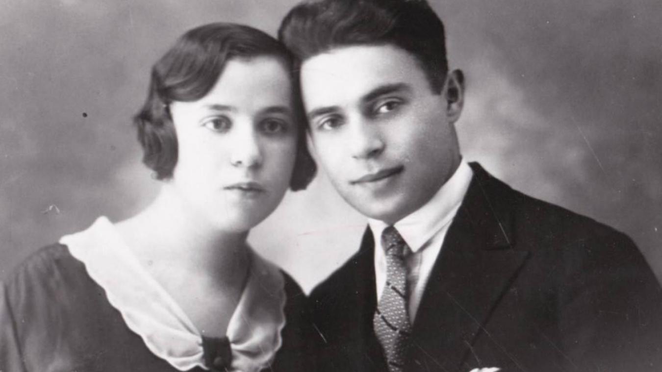 Anne et Léon Landau. Le 17 septembre 1942, la jeune femme, âgée de 35 ans, et son enfant Alain, périssaient gazés à Aushwitz.