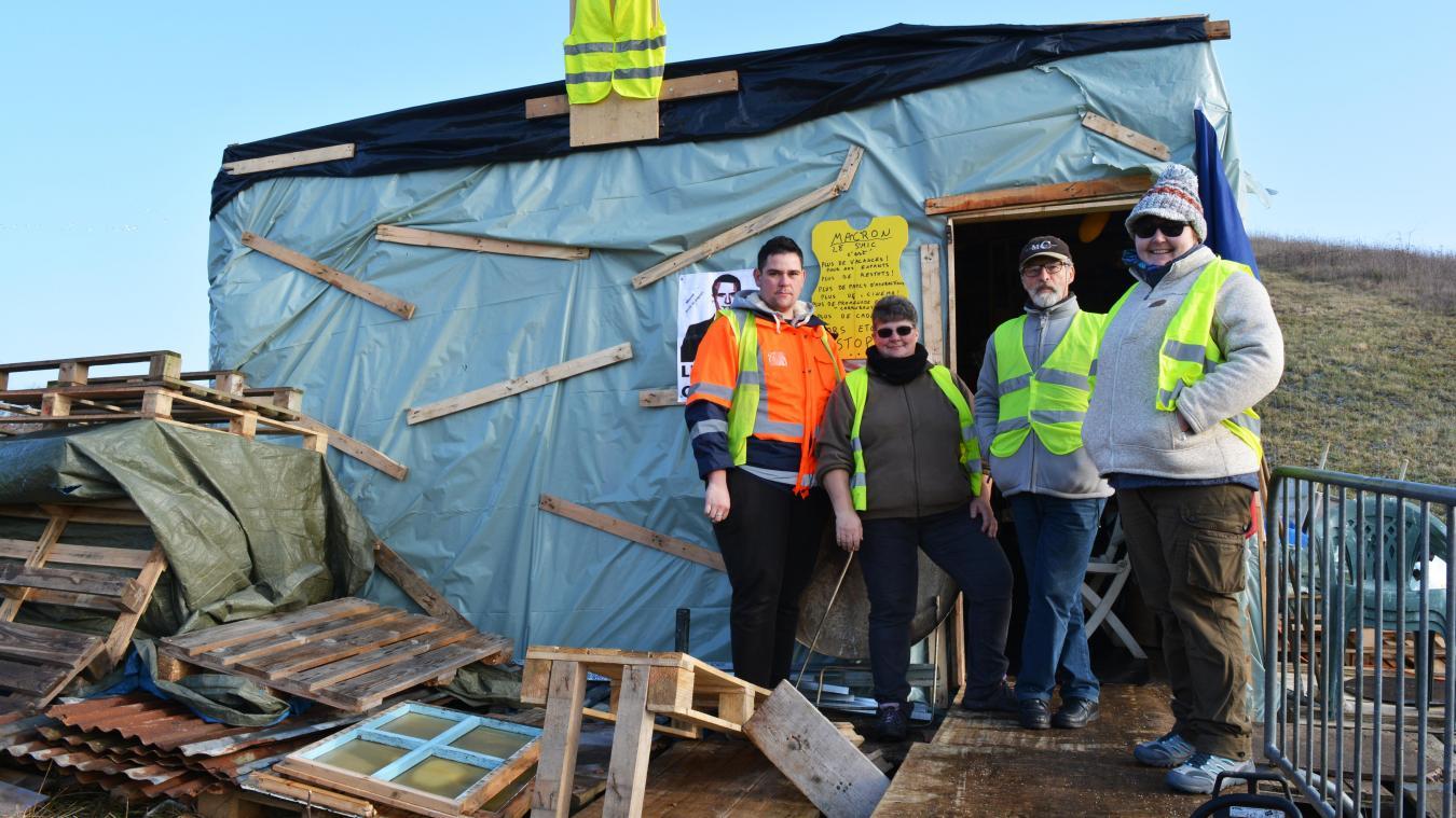 Wailly-Beaucamp : la cabane des gilets jaunes va être démontée