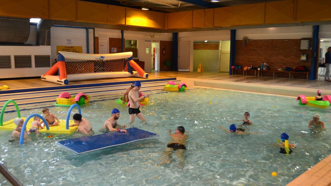 Ce samedi matin, la piscine d'Hazebrouck était réservée aux 6-11 ans.