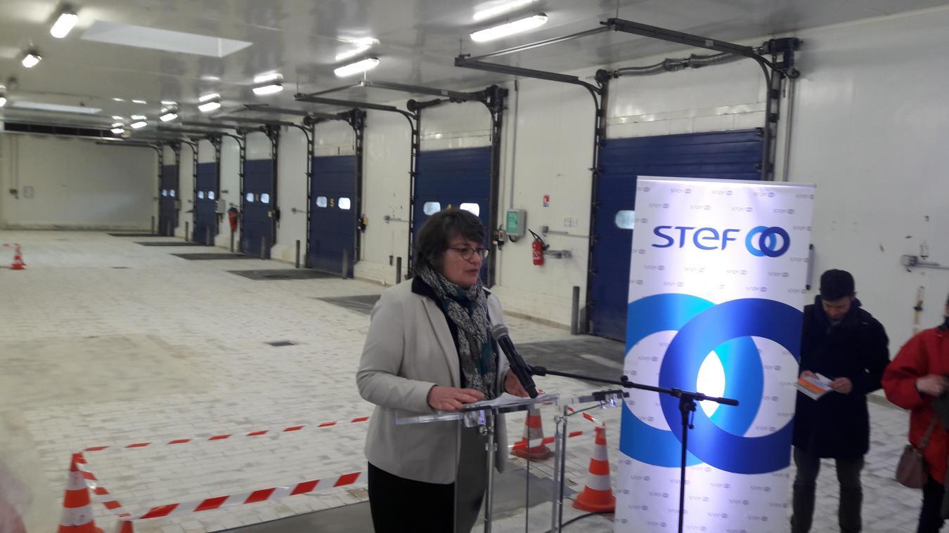 Magali Pecquery, directrice adjointe de Direction Régionale de l'Alimentation, de l'Agriculture et de la Forêt Hauts-de-France, assure que les camions ne feront pas la queue lors de leur contrôle.