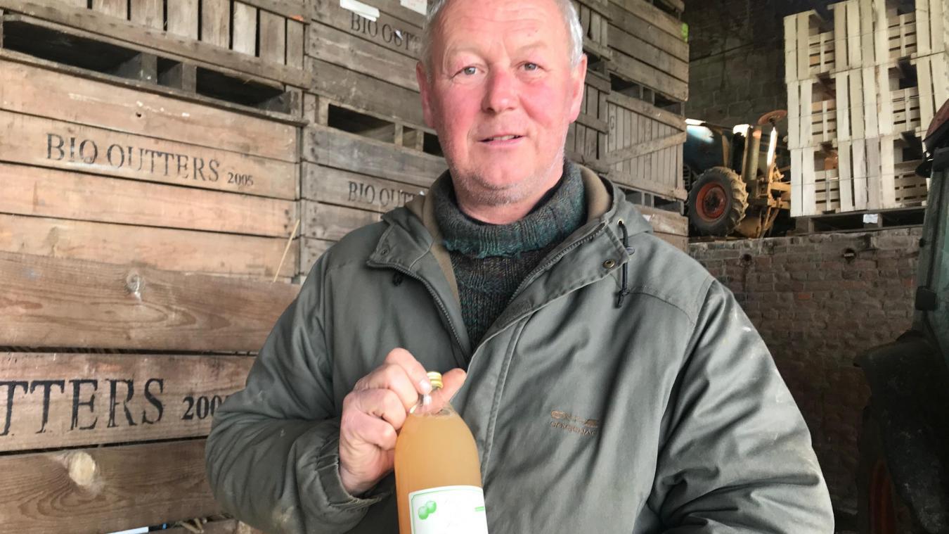 Benoît Outters a remporté la médaille d'argent du concours général agricole pour son jus de pomme biologique, produit à Wallon-Cappel.