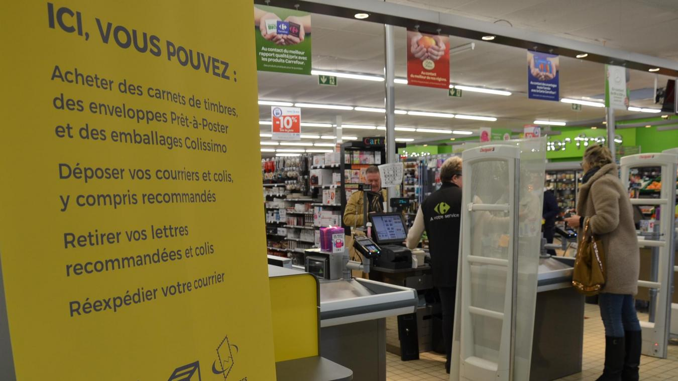 À compter du mardi 12 mars, Carrefour Contact accueille un point services de la Poste Relais.